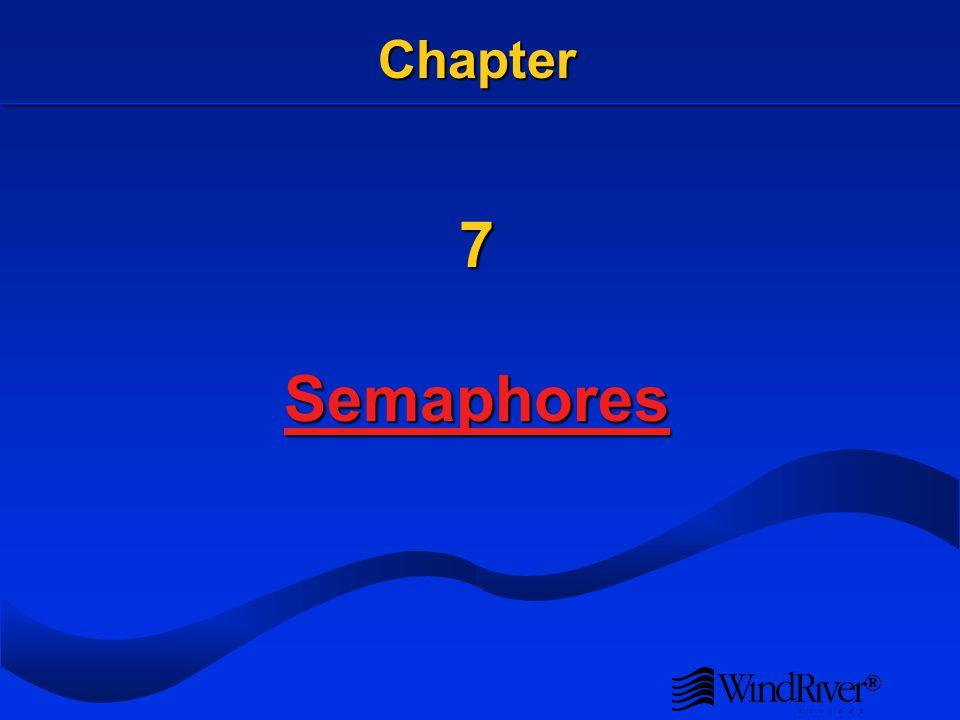 ® Chapter 7 Semaphores Semaphores
