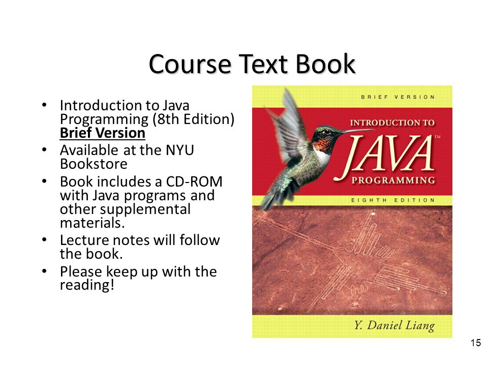 Class mailing list First assignment is to join it.