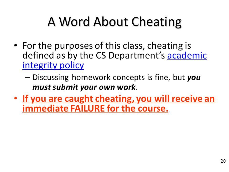homework If you do not do the homework programs, you cannot pass the course.