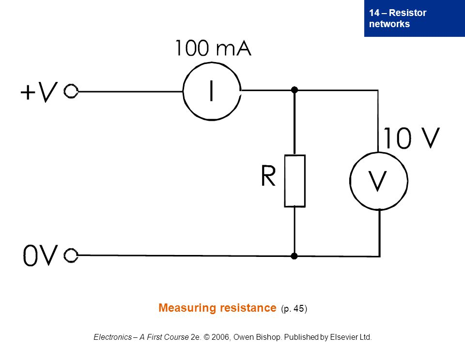14 – Resistor networks Electronics – A First Course 2e.