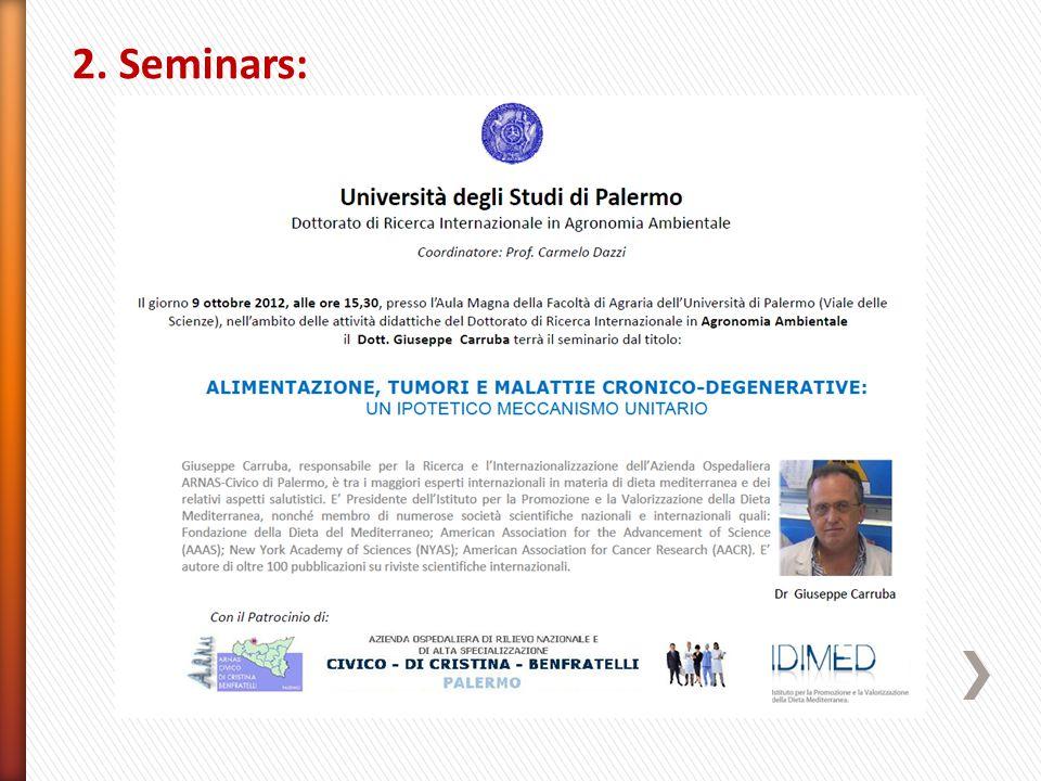 2. Seminars: