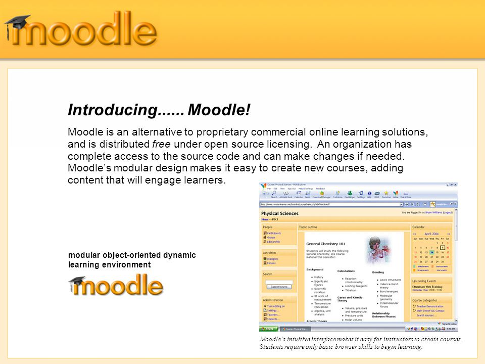 Introducing......Moodle.