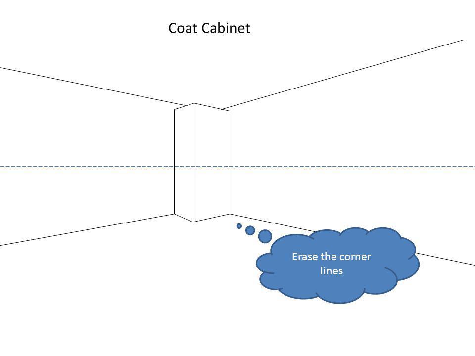 Coat Cabinet Erase the corner lines
