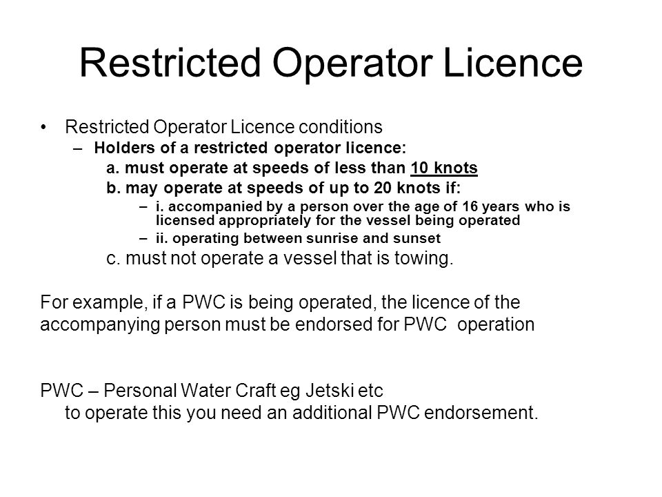 Licence Test What is involved in the test.