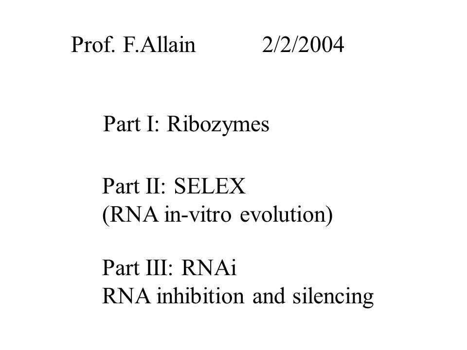 RBD2-RNA-RBD1 sandwich 5 3 1 G16 22 F56 5 3 RBD2 RBD1 linker Allain et al, EMBOJ (2000)