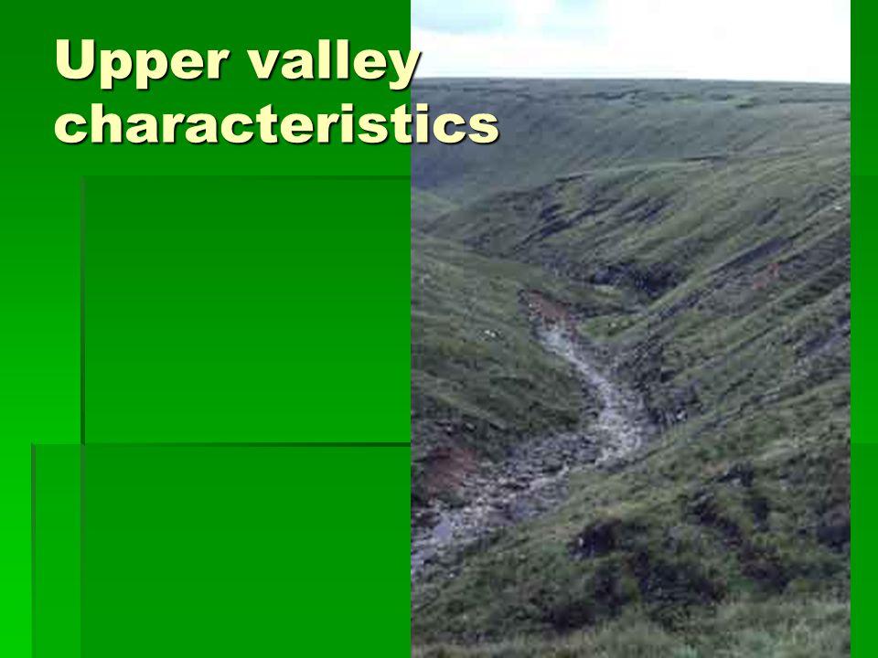Summary of valley characteristics