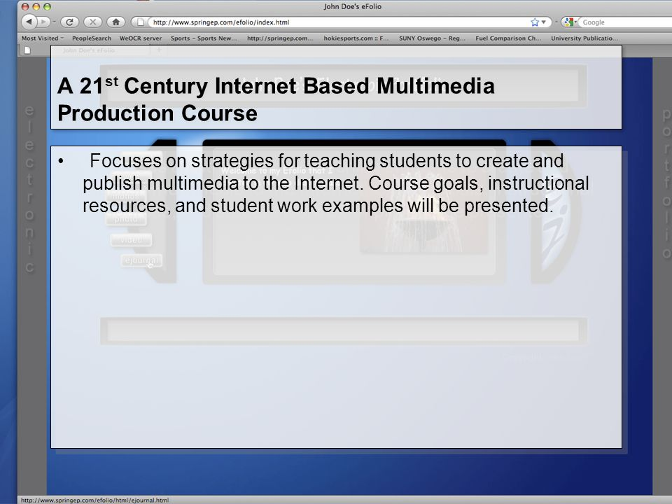 Create and organize instructional resources that are sequenced around key concepts.