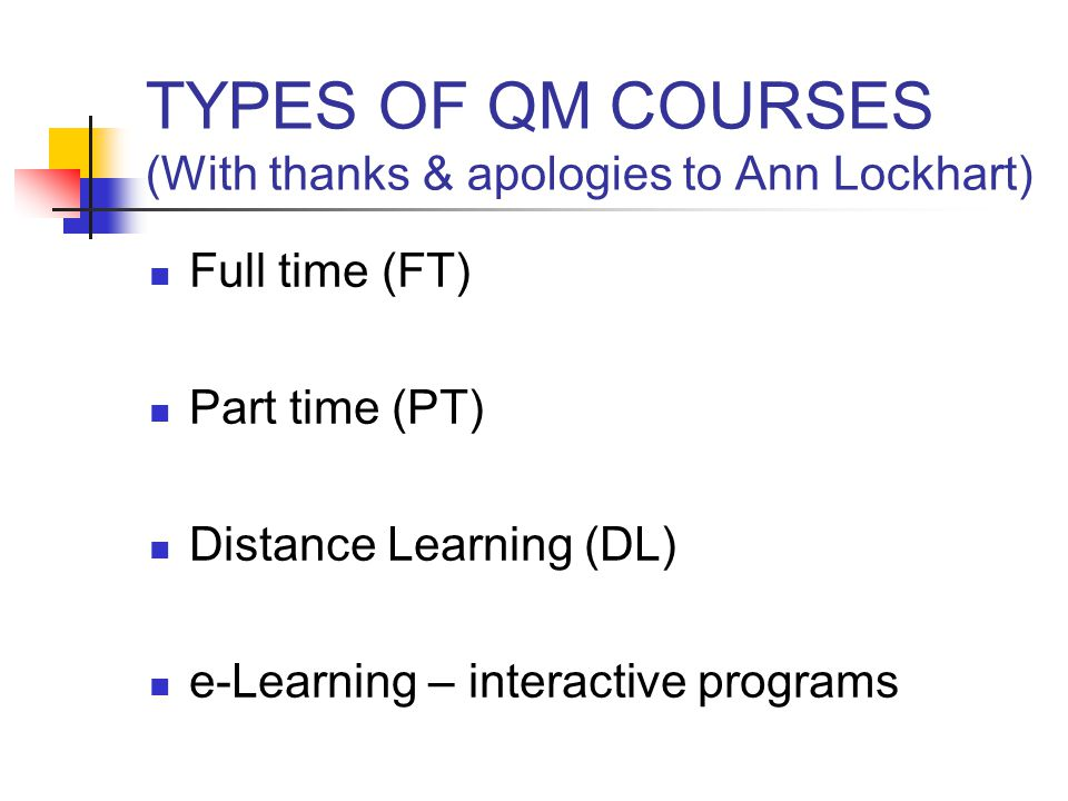 Advanced QM (Greenwich) 1.Introduction 2. Anatomy of a job description: Activity 1.1 3.