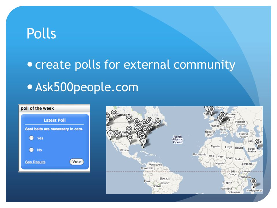 Polls create polls for external community Ask500people.com