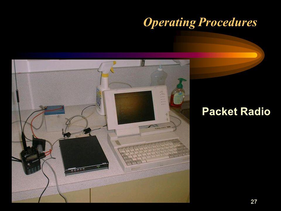 27 Operating Procedures Packet Radio