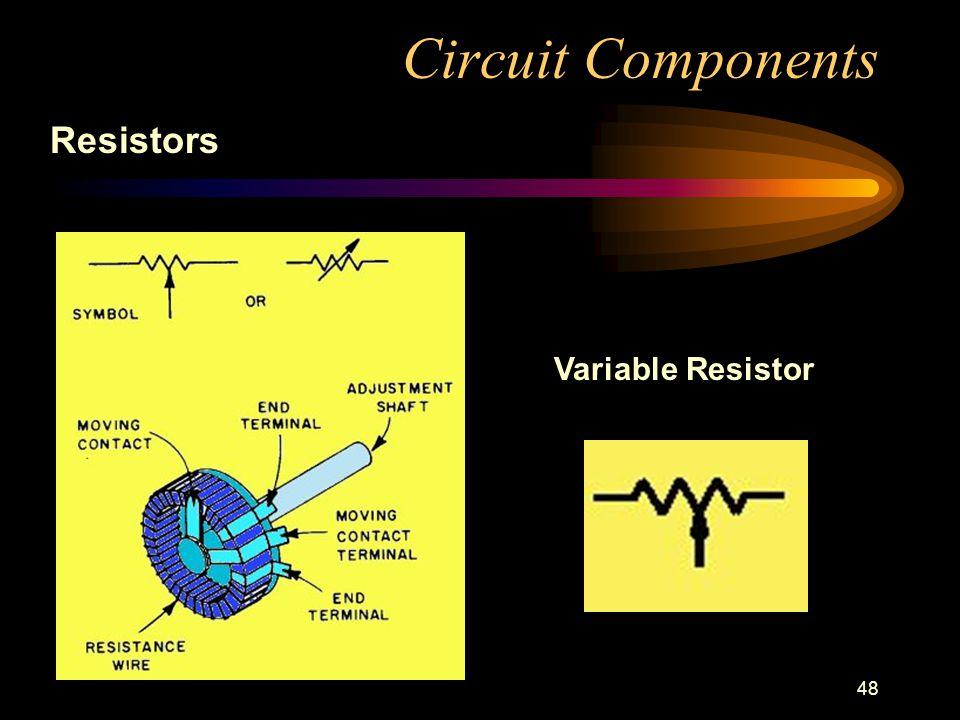 48 Circuit Components Resistors Variable Resistor