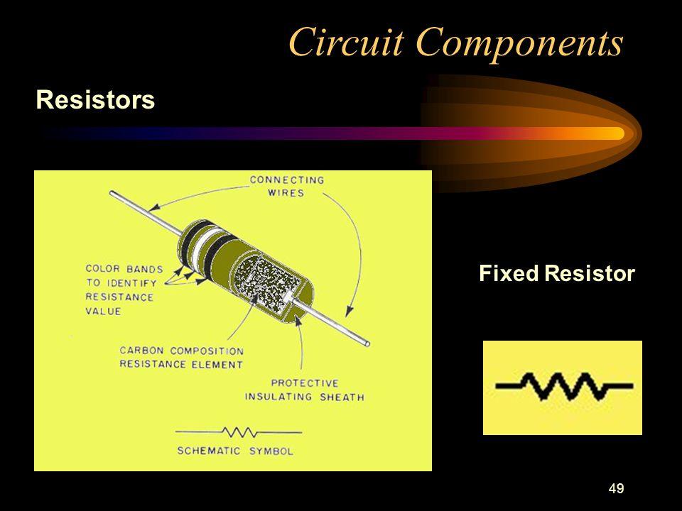 49 Circuit Components Resistors Fixed Resistor