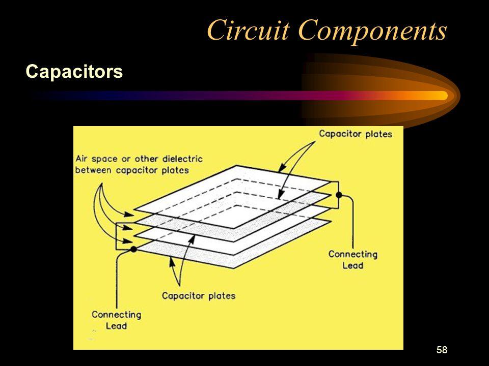 58 Circuit Components Capacitors