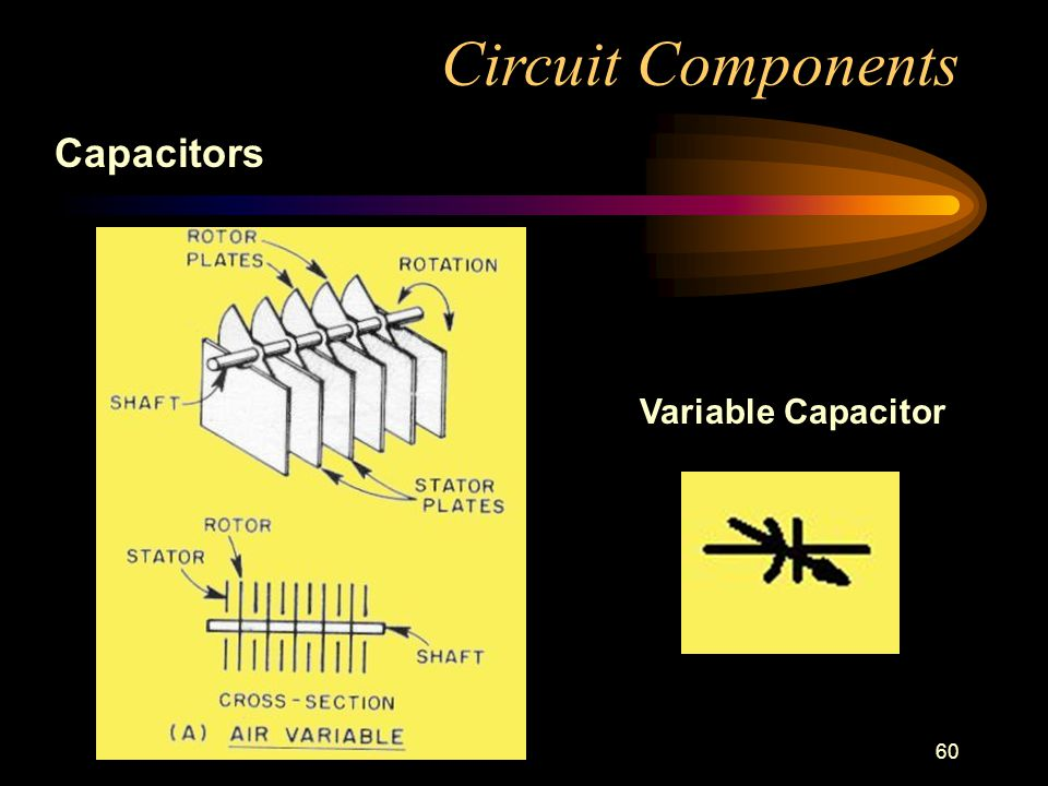 60 Circuit Components Capacitors Variable Capacitor
