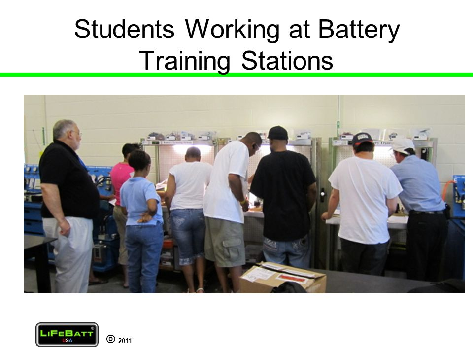 © 2011 Students Working at Battery Training Stations