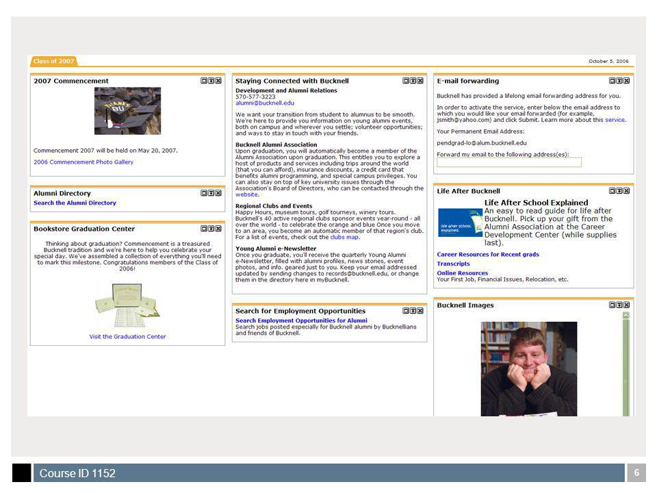 37 Course ID 1152 Back-end Bulletin Board Application