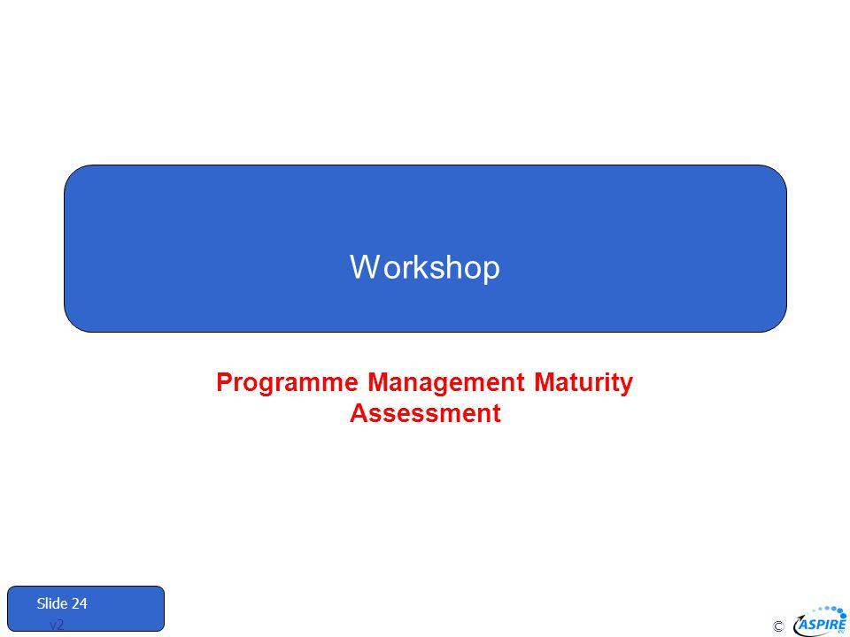 © Slide 24 v2 Workshop Programme Management Maturity Assessment