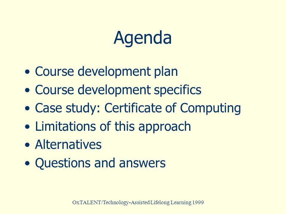 OxTALENT/Technology-Assisted Lifelong Learning 1999 XML model