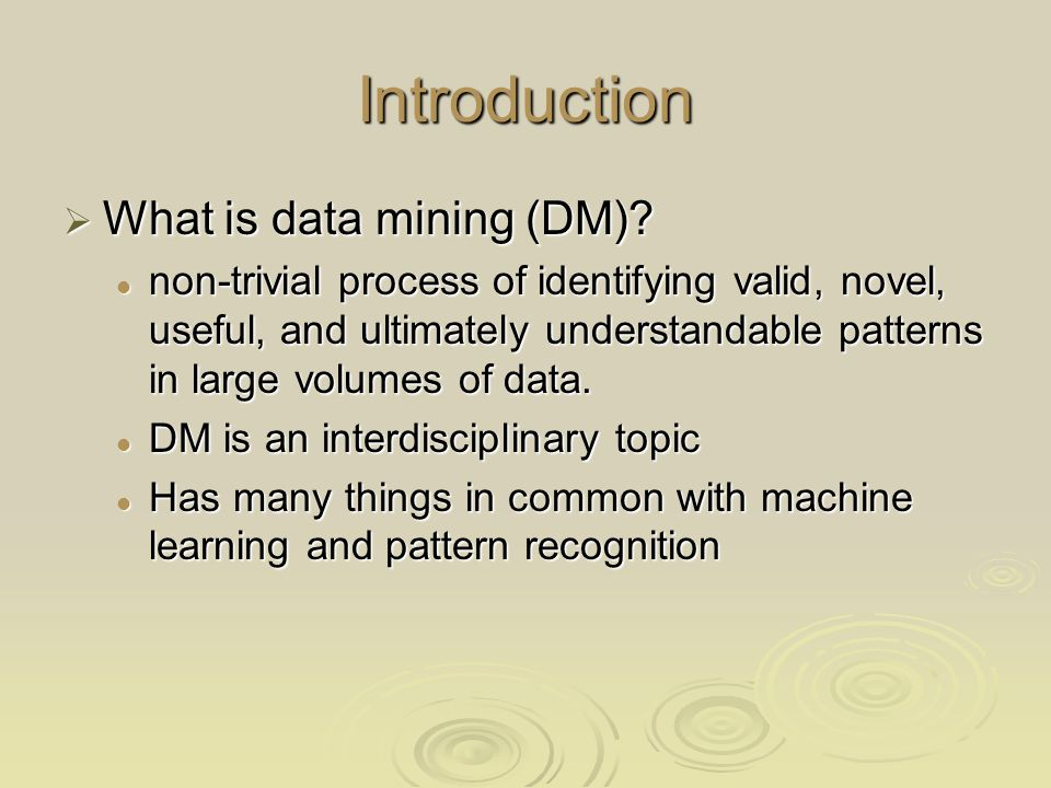Conclusion DM is an interesting course for CS and non-CS students DM is an interesting course for CS and non-CS students DM can be taught for non-CS students DM can be taught for non-CS students A DM course can be taught for students with minimal CS background A DM course can be taught for students with minimal CS background