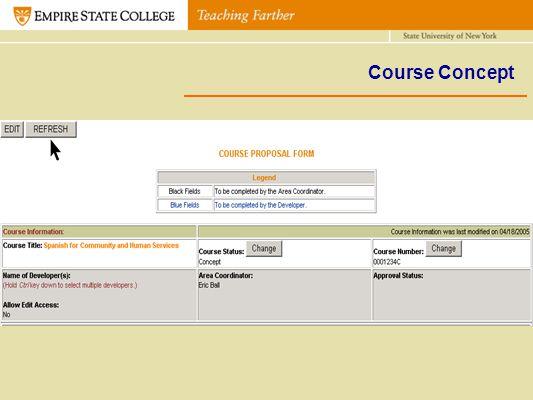 Course Concept