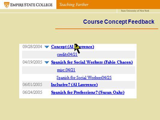Course Concept Feedback