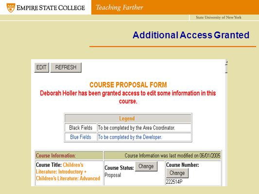 Additional Access Granted