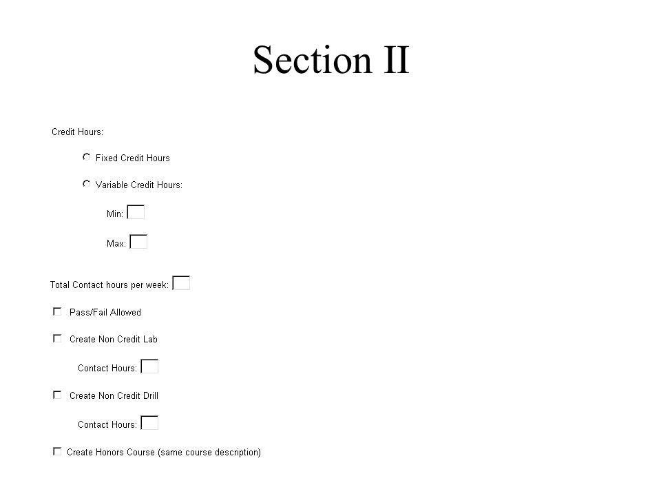 Section II