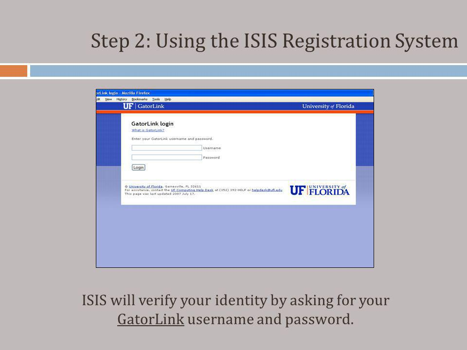 Step 2: Using the ISIS Registration System Another Search Option is the Search for Courses that Meet My Schedule function.