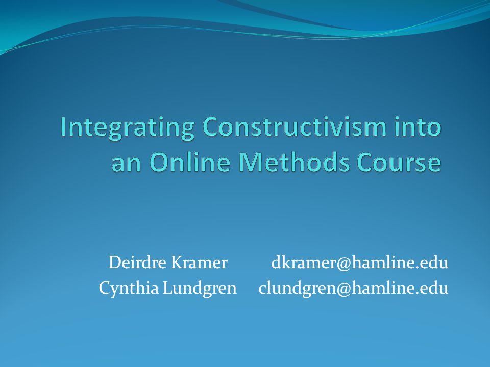 Deirdre Kramer dkramer@hamline.edu Cynthia Lundgren clundgren@hamline.edu Deirdre Kramer dkramer@hamline.edu Cynthia Lundgren clundgren@hamline.edu