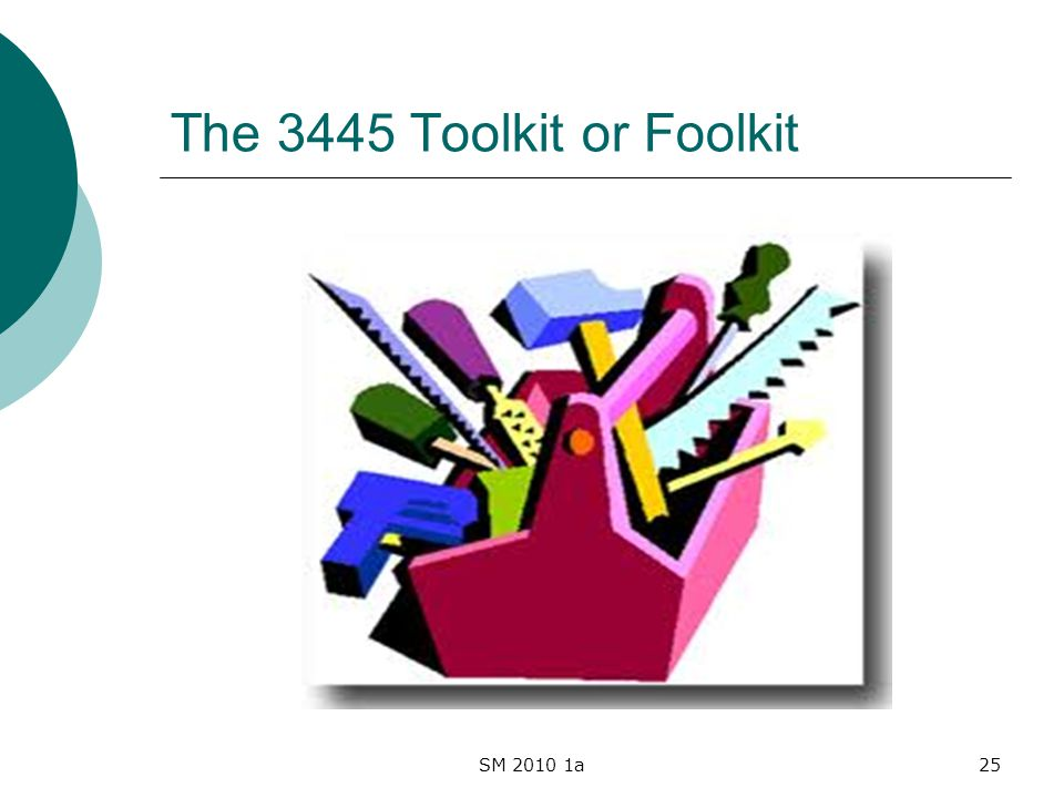 SM 2010 1a25 The 3445 Toolkit or Foolkit
