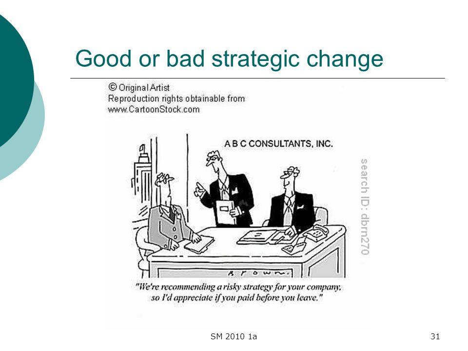 SM 2010 1a31 Good or bad strategic change