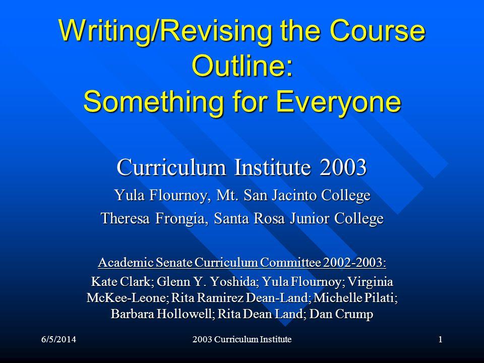 6/5/20142003 Curriculum Institute22 Examples of Assignments, cont.
