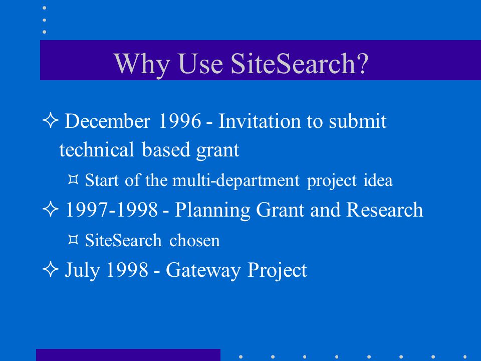 Why Use SiteSearch.