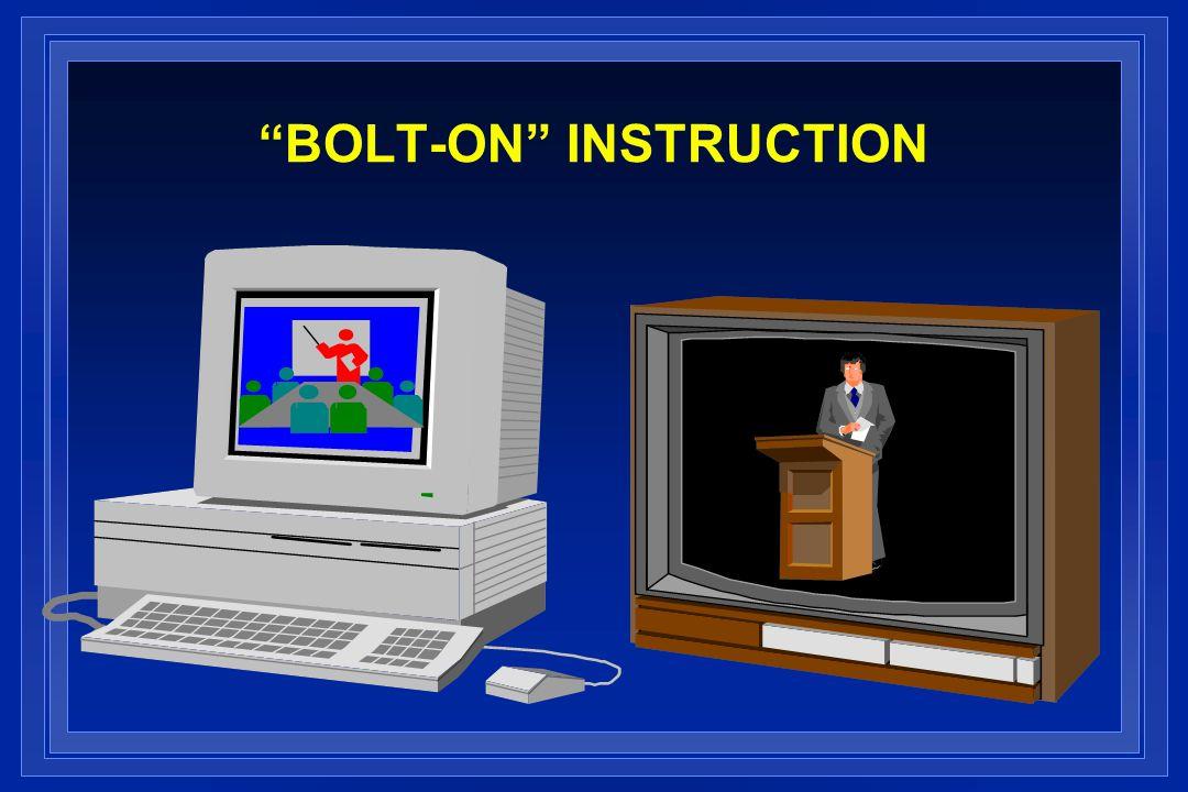 BOLT-ON INSTRUCTION