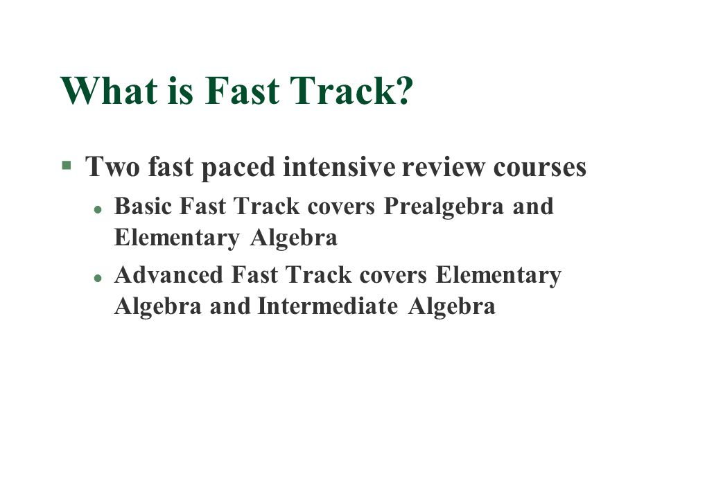 What is Fast Track.