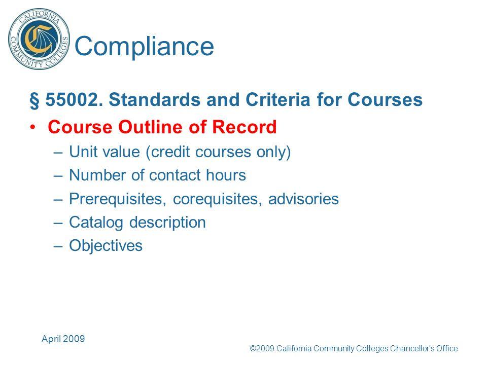 Compliance § 55002.