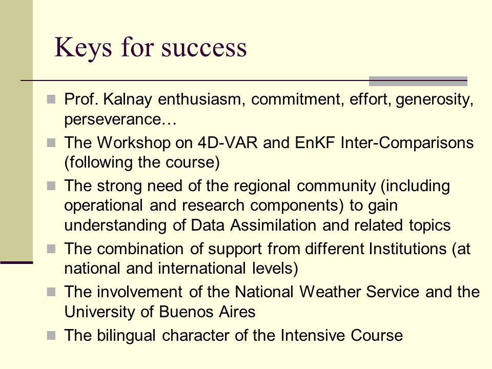 Keys for success Prof.