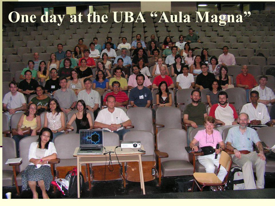 One day at the UBA Aula Magna