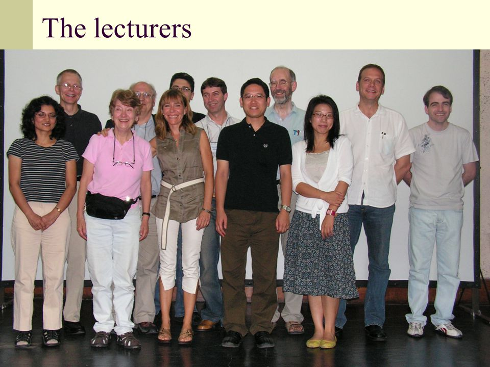 The lecturers
