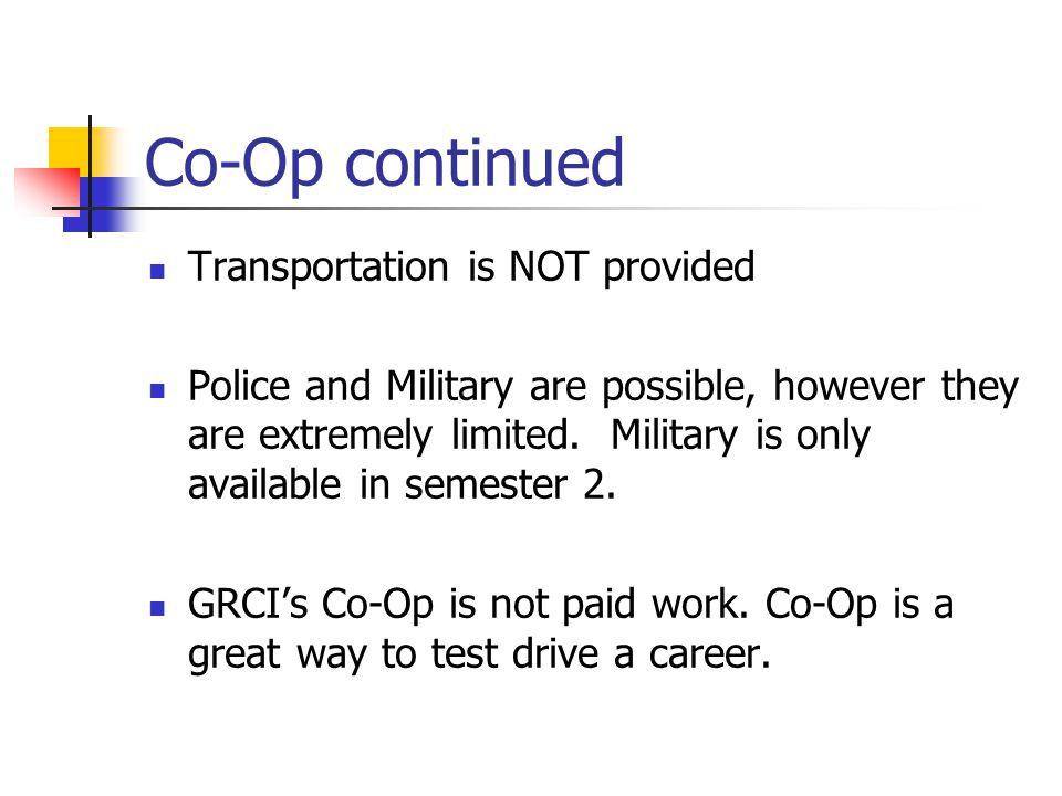 COOP 2 Credit Co-Op is the standard.