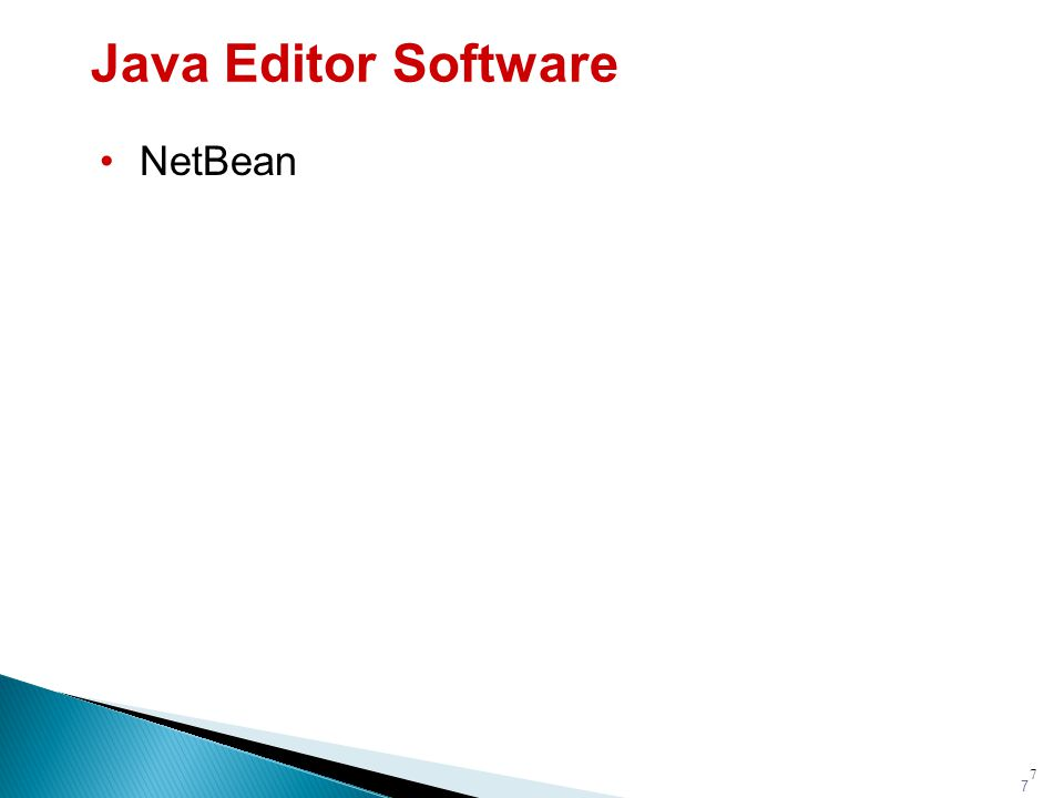 7 Java Editor Software NetBean 7