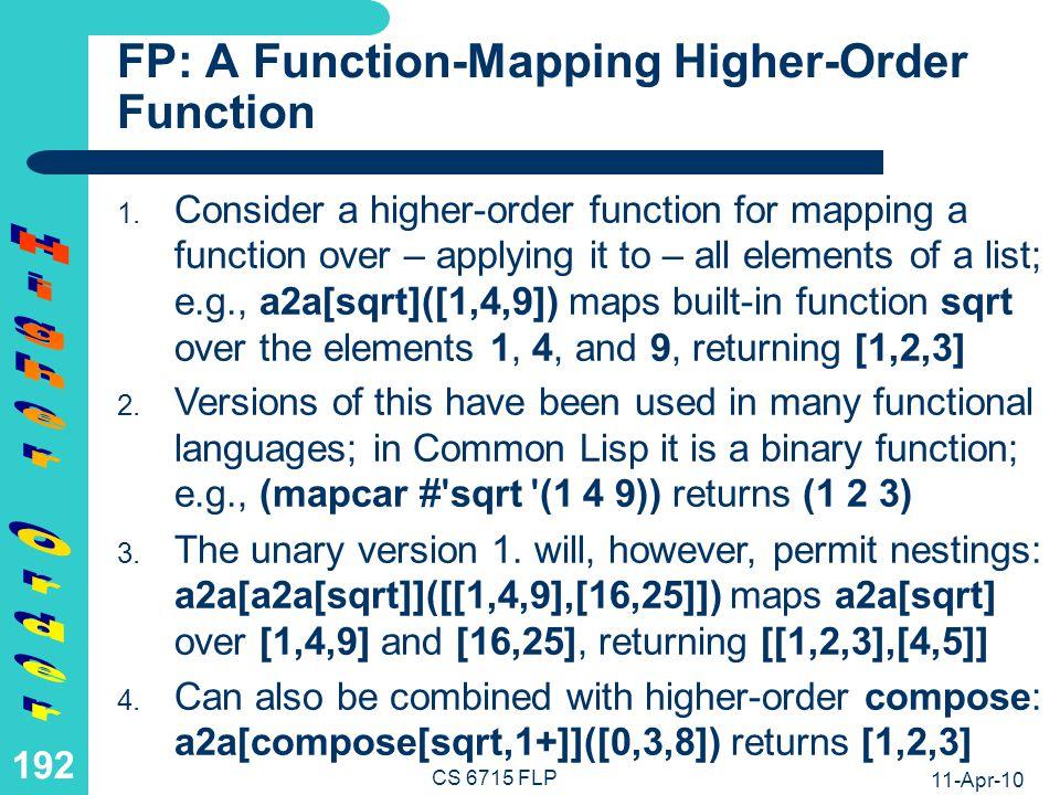 11-Apr-10 CS 6715 FLP 191 LP: Computation with Nested Product as a Higher-Order Relation product[fr4en,product[en-antonym,en4fr]](noir,Res) fr4en(noir,Y1), product[en-antonym,en4fr](Y1,Res) product[en-antonym,en4fr](black,Res) en-antonym(black,Y2), en4fr(Y2,Res) en4fr(white,Res) Res = blanc product[product[fr4en,en-antonym],en4fr](noir,Res) product[fr4en,en-antonym](noir,Y1), en4fr(Y1,Res) fr4en(noir,Y2), en-antonym(Y2,Y1), en4fr(Y1,Res) en-antonym(black,Y1), en4fr(Y1,Res) en4fr(white,Res) Res = blanc