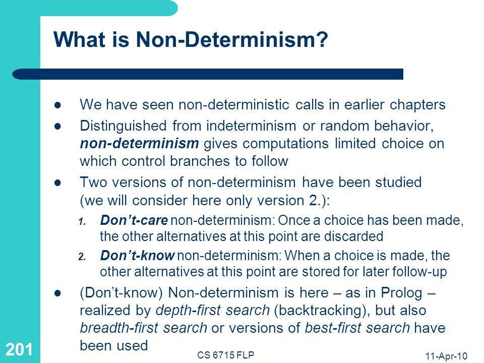 11-Apr-10 CS 6715 FLP 200 Non-Deterministic Definitions and Calls Chapter 6
