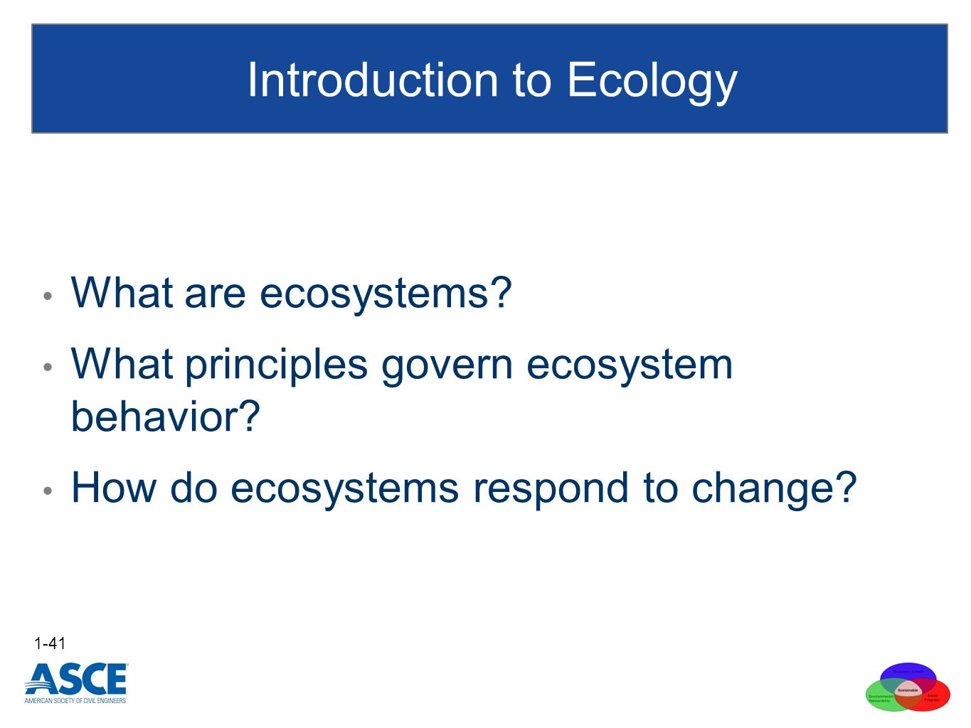 What are ecosystems. What principles govern ecosystem behavior.