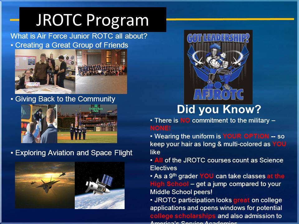 What is Air Force Junior ROTC all about.