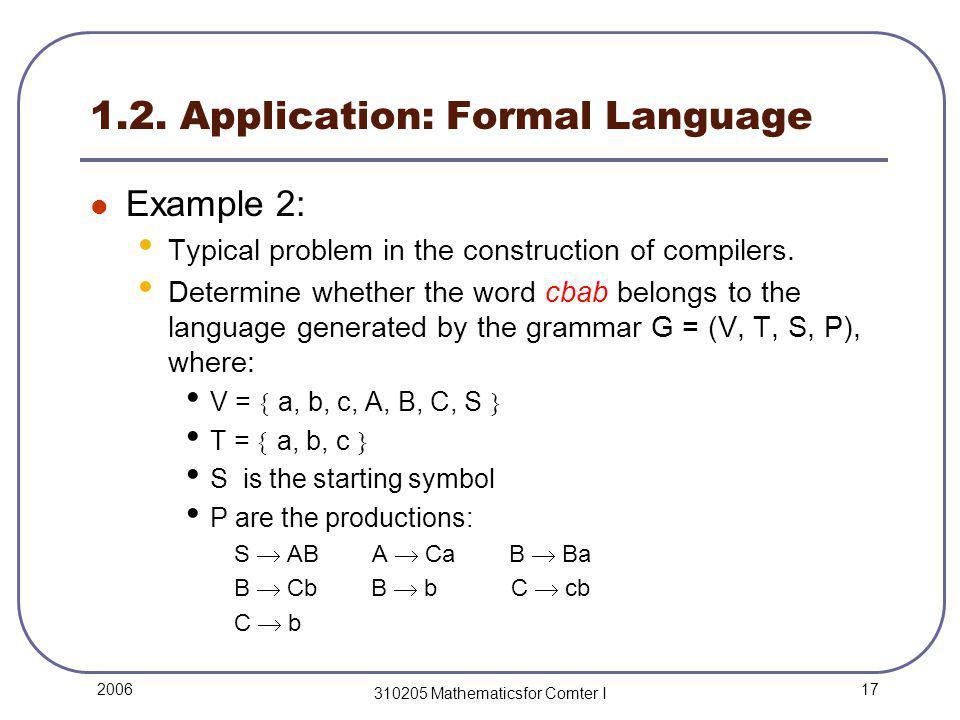 17 2006 310205 Mathematicsfor Comter I 1.2.
