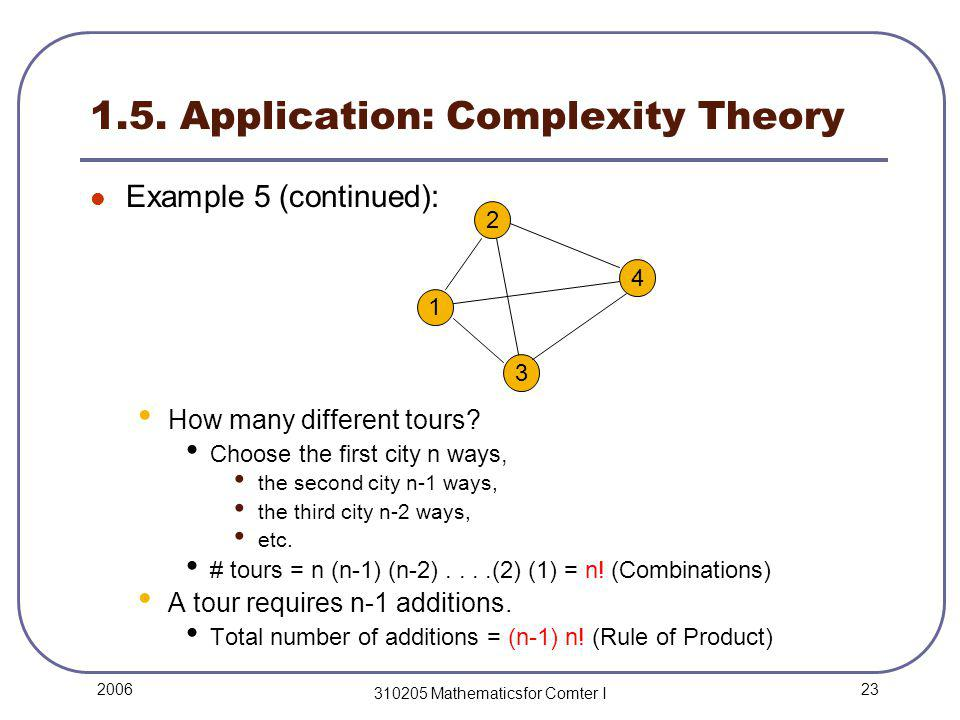 23 2006 310205 Mathematicsfor Comter I 1.5.