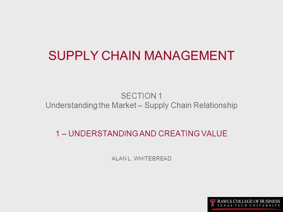 A SUPPLY CHAIN REPELLING COMPETITIVE THRUSTS –Market [segment] share –Large customers –