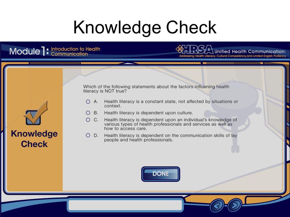 7 Knowledge Check