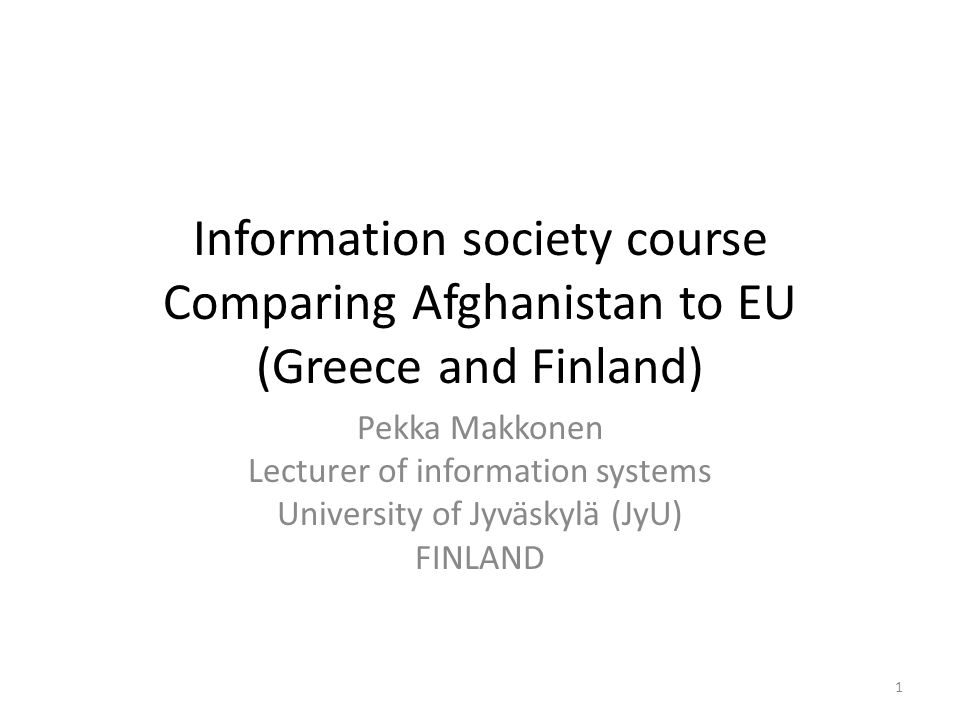References Faculty of IT at the University of Jyväskylä – https://www.jyu.fi/it/en About Finland – http://www.tieke.fi/in_english/ About Afghanistan – http://www.acsa.org.af/introduction.htm 12